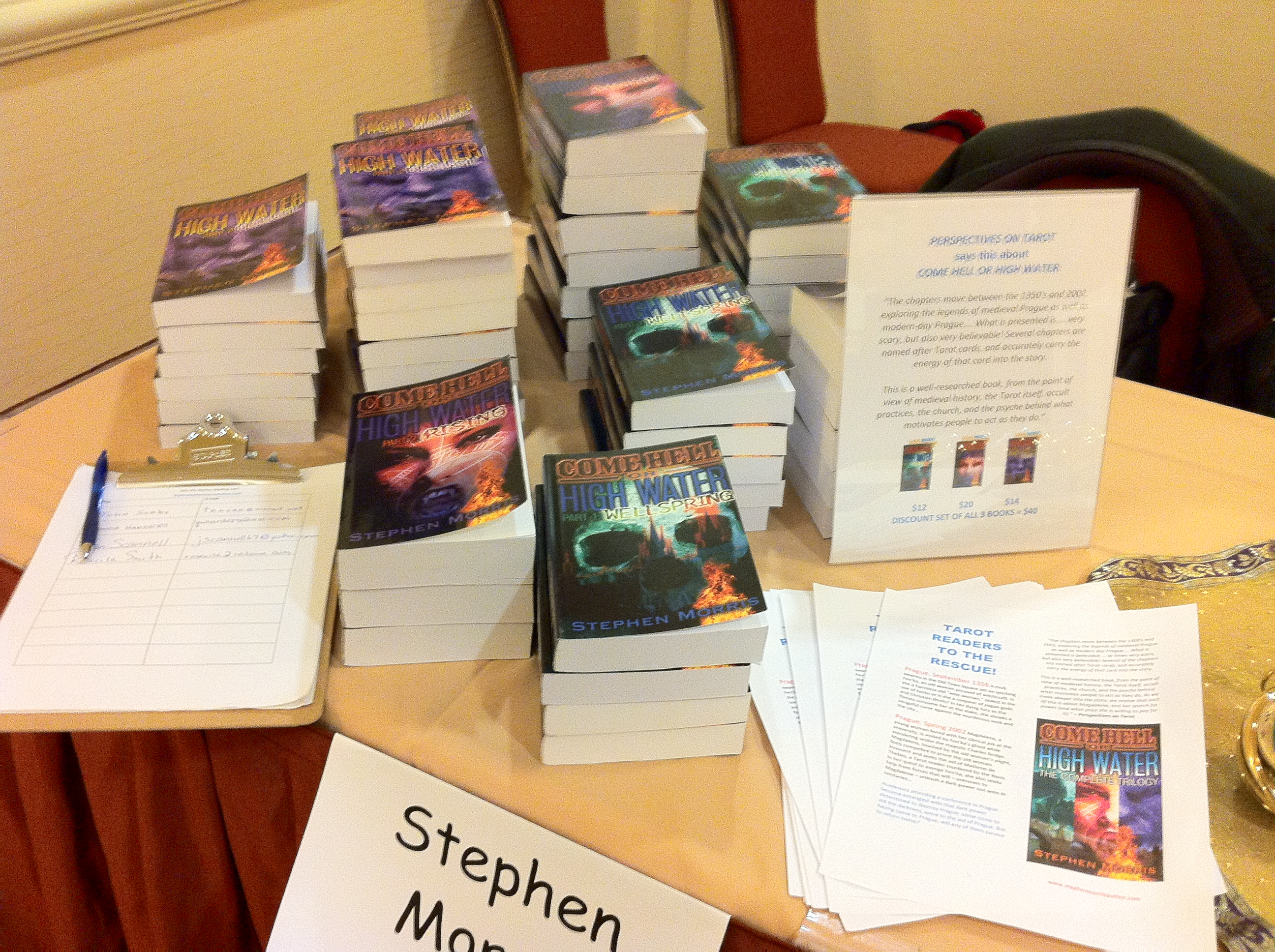My display at the Readers Studio 2014 conference.