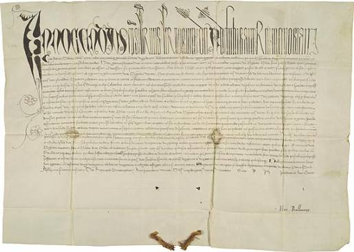 The papal bull of Pope Innocent VIII known as  Summis desiderantes (5 December 1484).