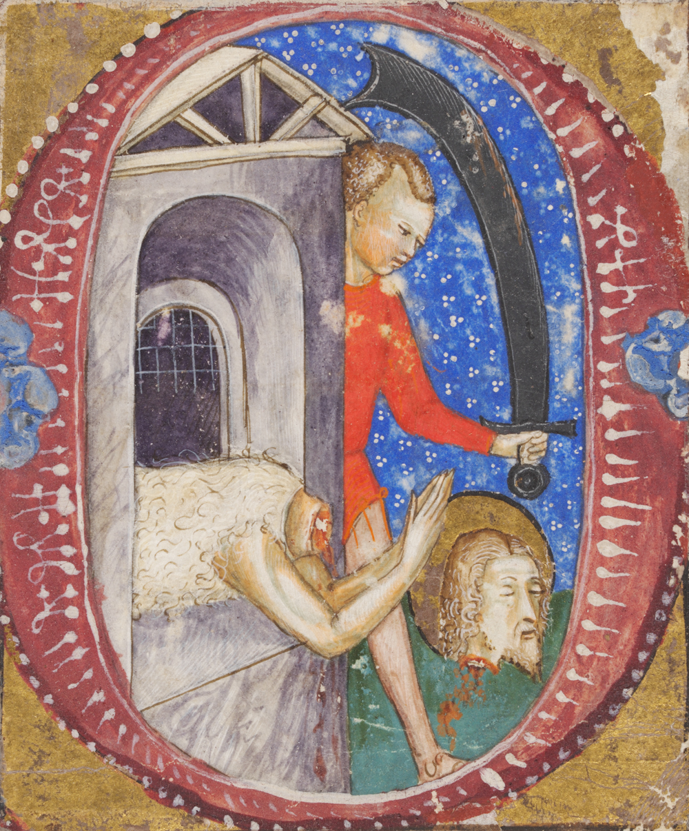 The Beheading of John the Baptist (detail), possibly by Tomasino da Vimercate, about 1410