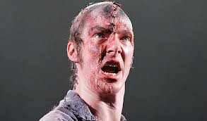 Benedict Cumberbatch as Frankenstein's creature in the National Theatre's 2011 production.