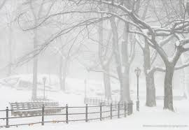 Snowstorms, such as this one in Central Park, were thought to be caused by Mother Holle shaking out her goose-down quilts.