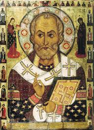 St. Nicholas, the 4th century bishop of Myra (in modern-day Turkey)often brings gifts to Dutch-speaking children on December 6, his feast.