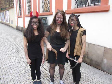 Devils on Stepanaska Street in Prague (Dec 2014).