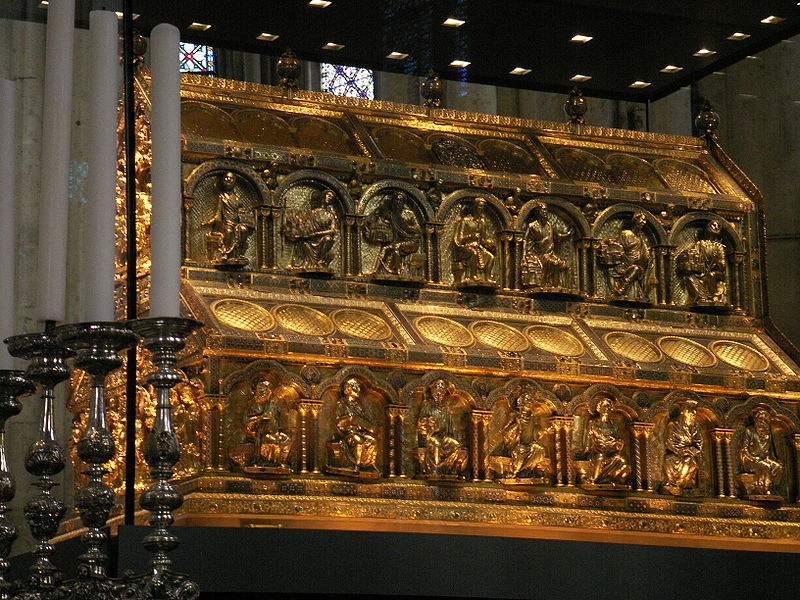 Shrine of the Three Magi, Cologne cathedral, Germany (another view).