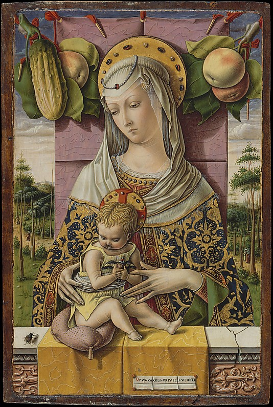 Madonna and Child, by Carlo Crivelli (1480); note the goldfinch in the Christ Child's grasp