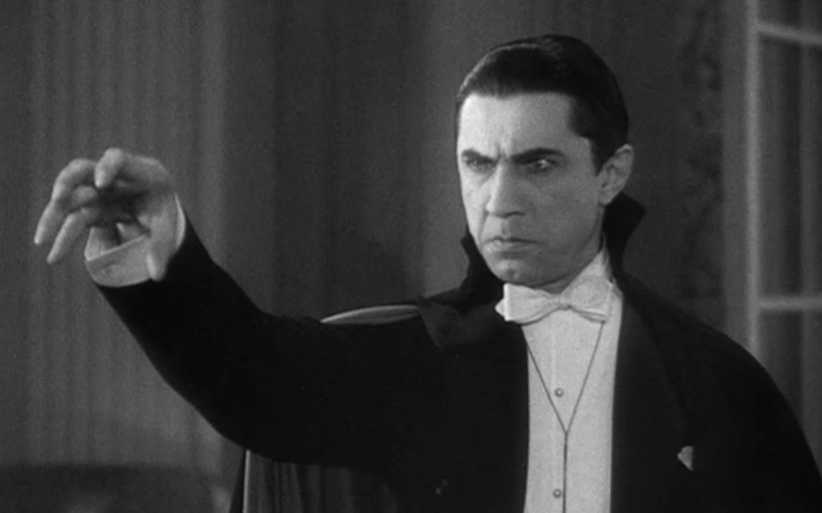 Bela Lugosi as the most famous portrayal of Dracula, the most famous of the Undead.