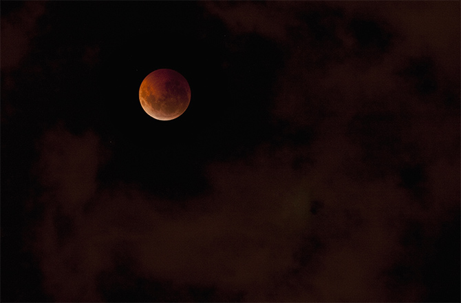 A photo of the blood moon last week.