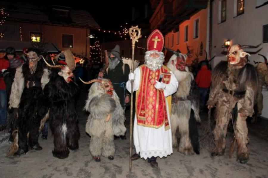St. Nicholas and the Krampus procession in Salzburg (2010); photo by Charlotte Anne Brady.