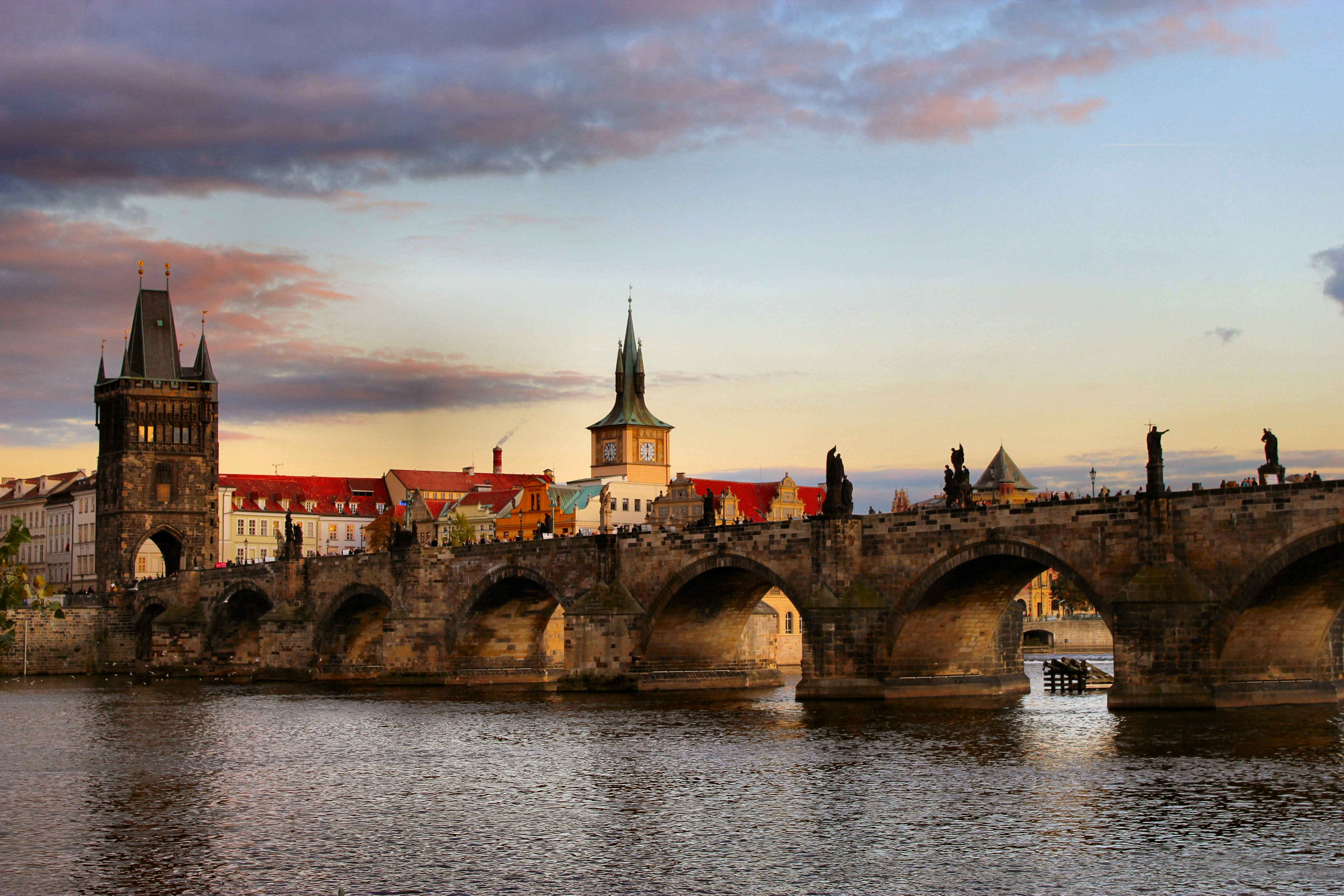 Charles IV wanted his stone bridge, built in 1357, to be a masterpiece of occult workmanship to protect his beloved city of Prague.