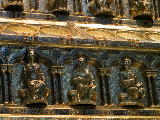 Shrine of the Three Kings (detail), Nicholas of Verdun, gold, silver, and semi-precious stones (1190-1220), Cologne Cathedral, Cologne, Germany.