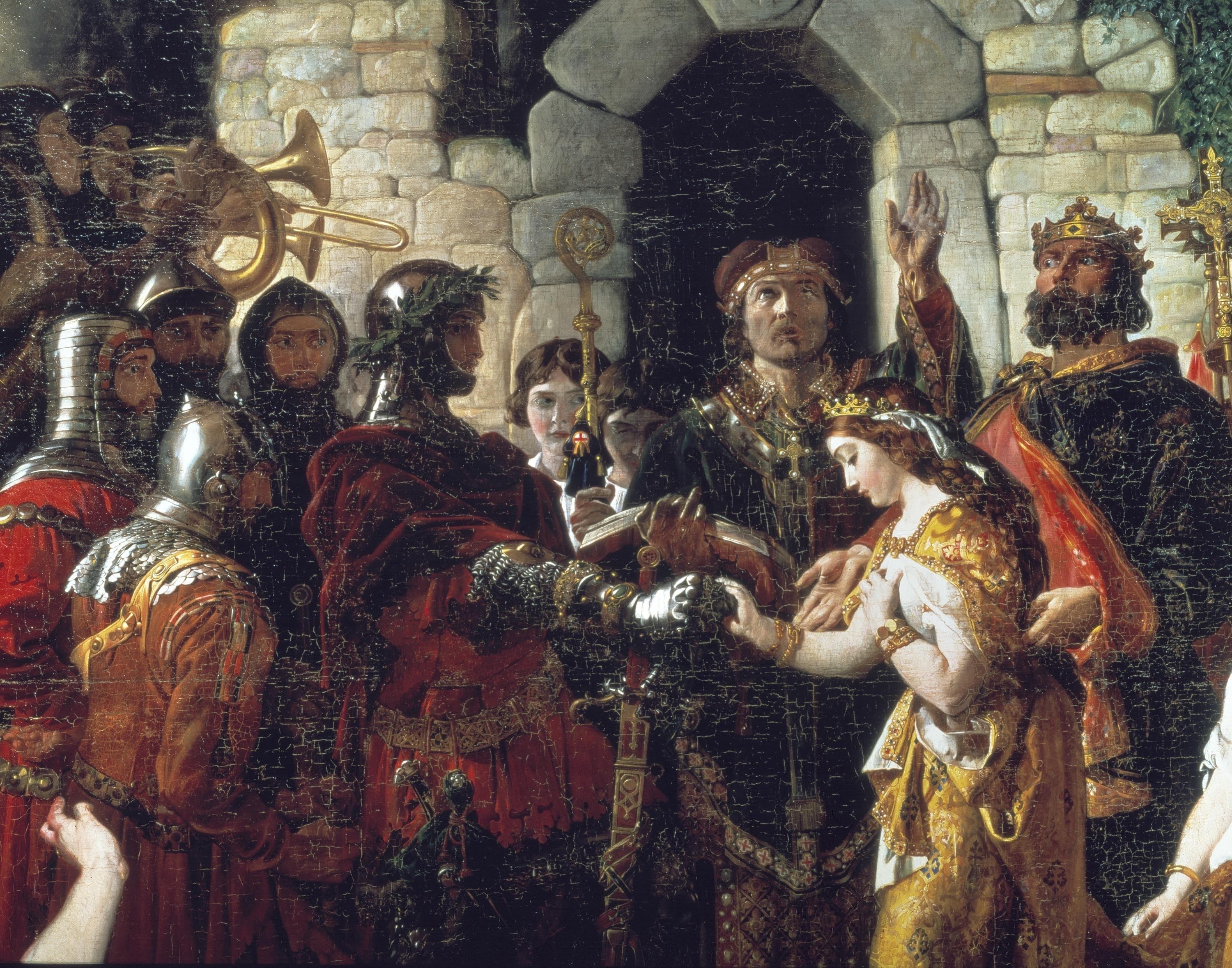 The Marriage of Strongbow and Aoife by Cork born historical painter Daniel Maclise (1806-1870) at the National Gallery of Ireland