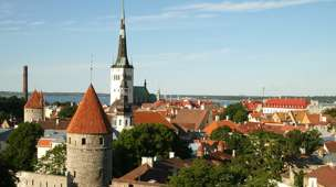 The historic old town of Estonia's capital Tallinn is included in Unesco's World Heritage List. (Photo from the BBC.)