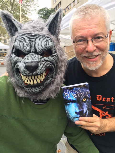 """Alexei"" and I close-up at the Brooklyn Book Festival (September 2016)"